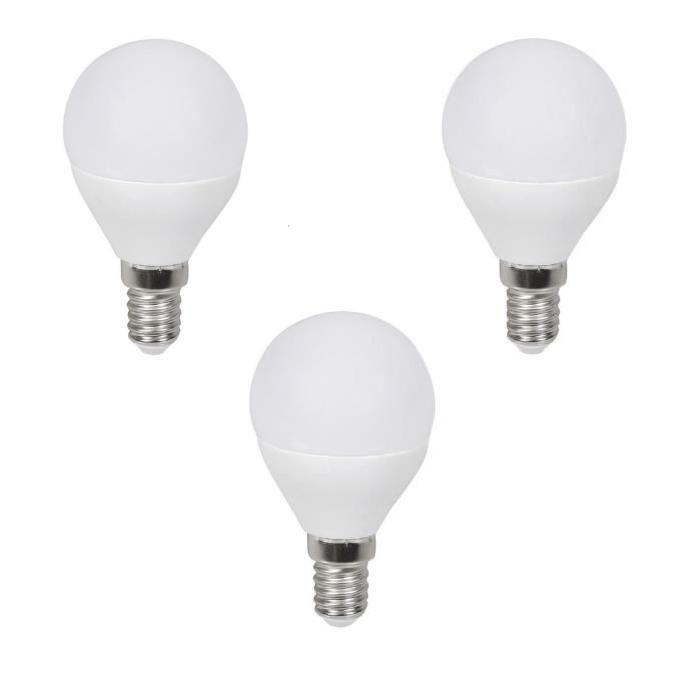 EXPERT LINE Lot de 3 ampoules LED E14 G45 3 W équivalent a 60 W blanc chaud