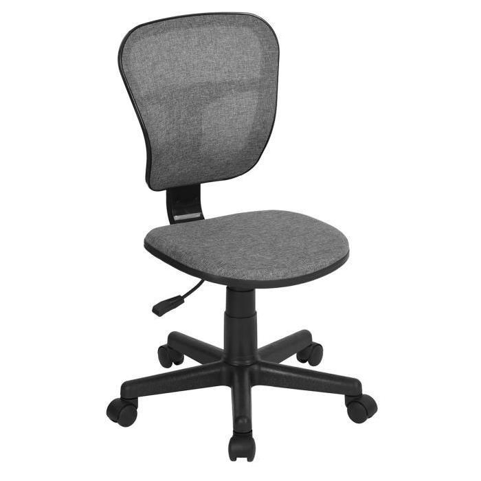 FLYINGO Chaise de bureau - Tissu gris - Style classique - L 47 x P 40 cm