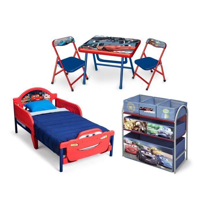 CARS - Chambre Enfant Complete Tout-En-Un - Rouge et Multicolore