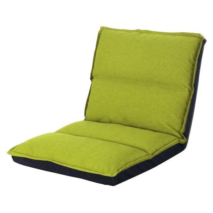 KOKO Chauffeuse enfant multiposition 1 place - Tissu vert anis - Contemporain - L 65 x P 81 cm
