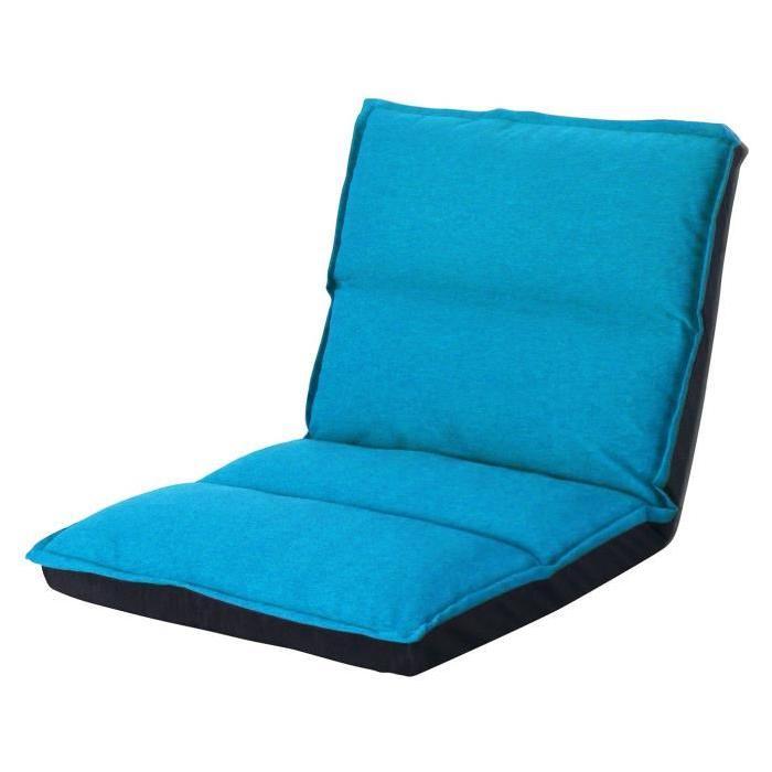 KOKO Chauffeuse enfant multiposition 1 place - Tissu turquoise - Contemporain - L 65 x P 81 cm