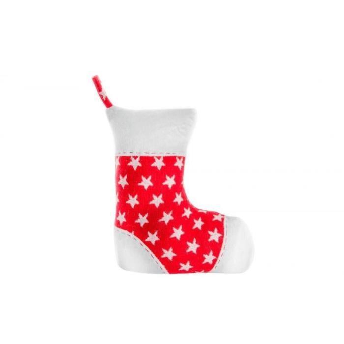 Chaussette de Noël en Polyester 20X9X23,7 cm