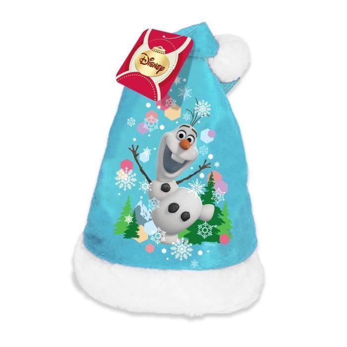 OLAF Bonnet de noël velours 39 cm bleu
