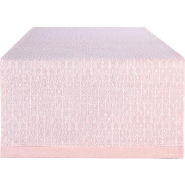 DEKOANDCO Chemin de table Scandi - 45X150 - Blush
