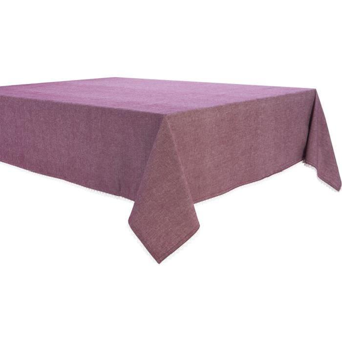 DEKOANDCO Nappe 150x250 cm CHINNY ROUGE/LIN