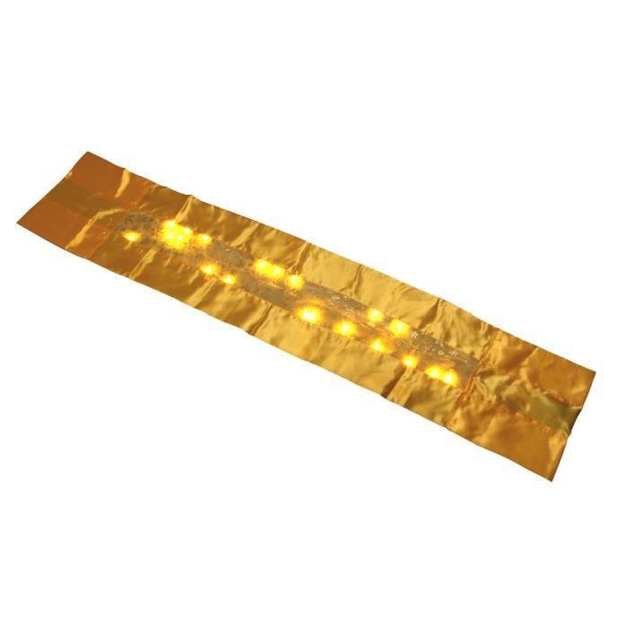 Chemin de table lumineux Doré 140x28 cm