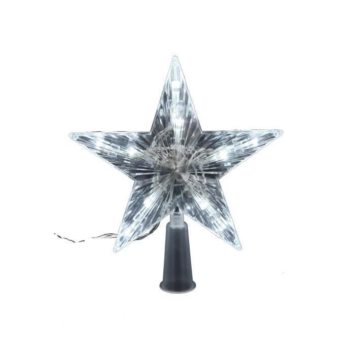 Cimier de sapin lumineux Ř 16 cm Blanc
