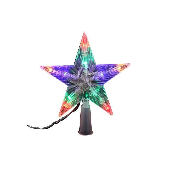 Cimier de sapin lumineux Ř 16 cm Multicolore
