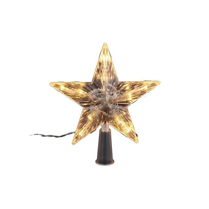 Cimier de sapin lumineux Ř 16 cm Blanc chaud