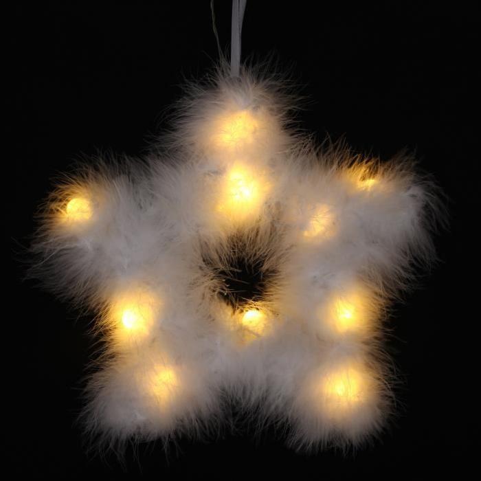 Étoiles de Noël avec plumes Ř 30 cm
