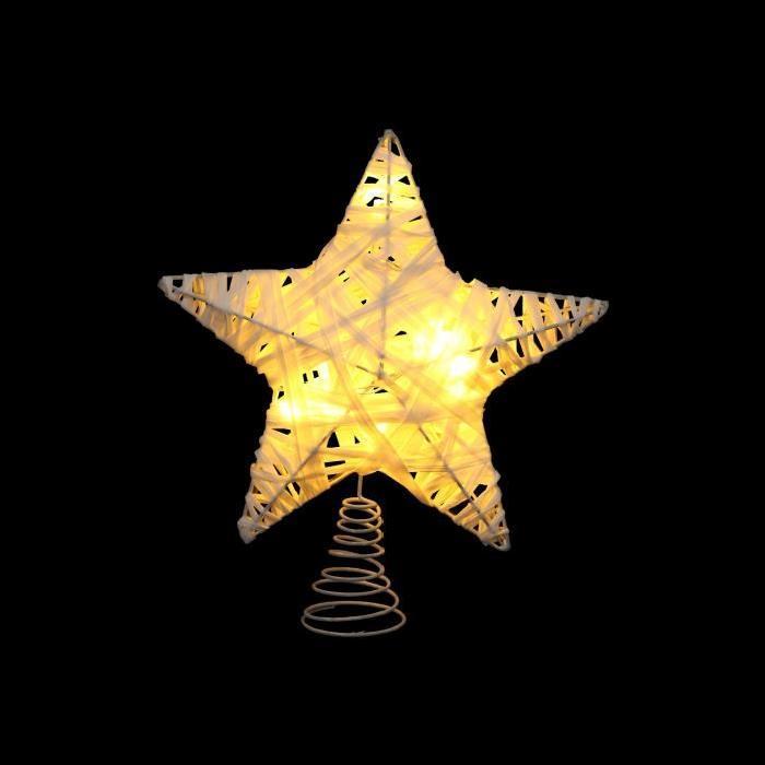 Étoile de Noël en métal et raphia Ř 20 cm