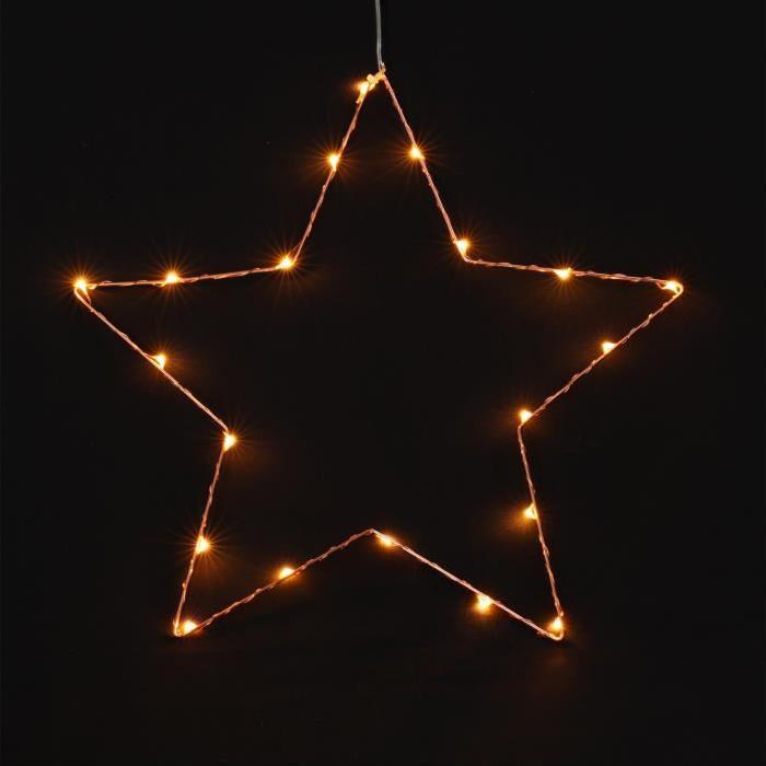Étoile de Noël lumineuse extensible Ř 35x34 cm