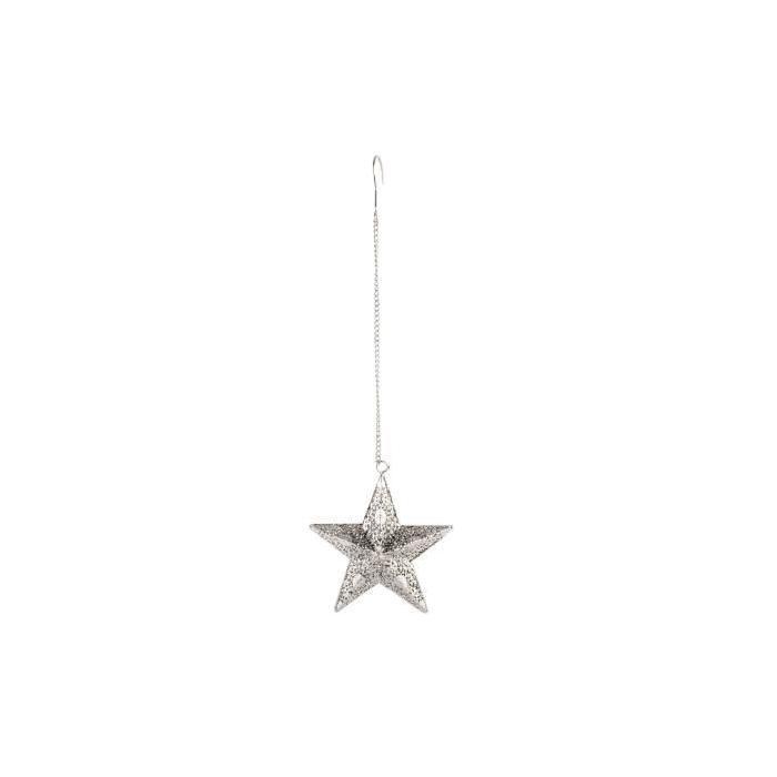 Étoile de Noël en métal 16 x16 x23 cm