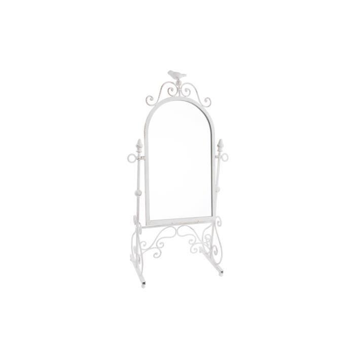 Coiffeuse Miroir Déco Métal 25,5x16x58,5cm