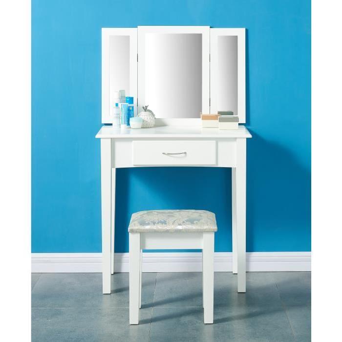 LILOU Coiffeuse classique blanc - L 75 cm