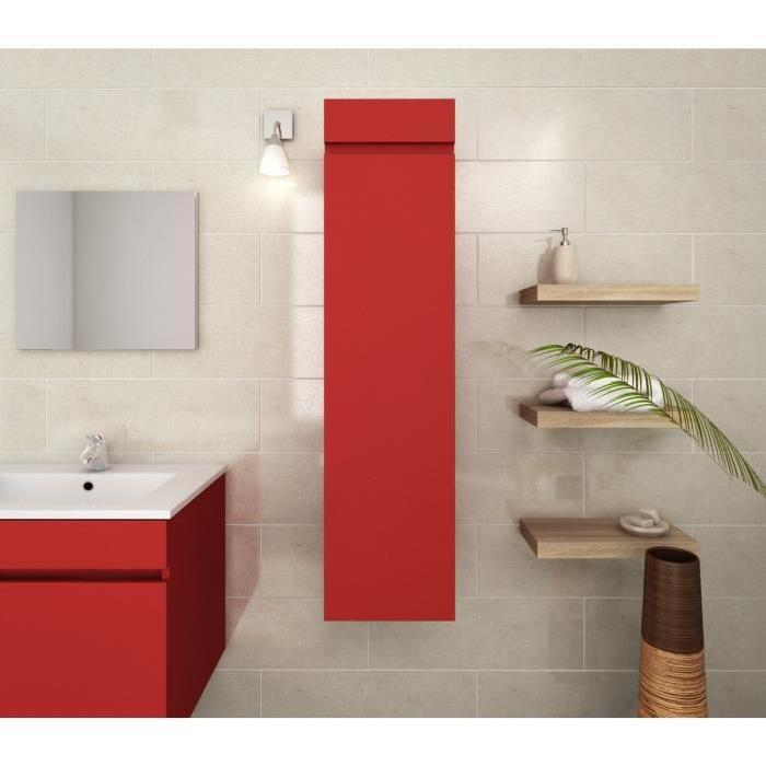 LUNA Colonne de salle de bain L 30 cm - Rouge mat