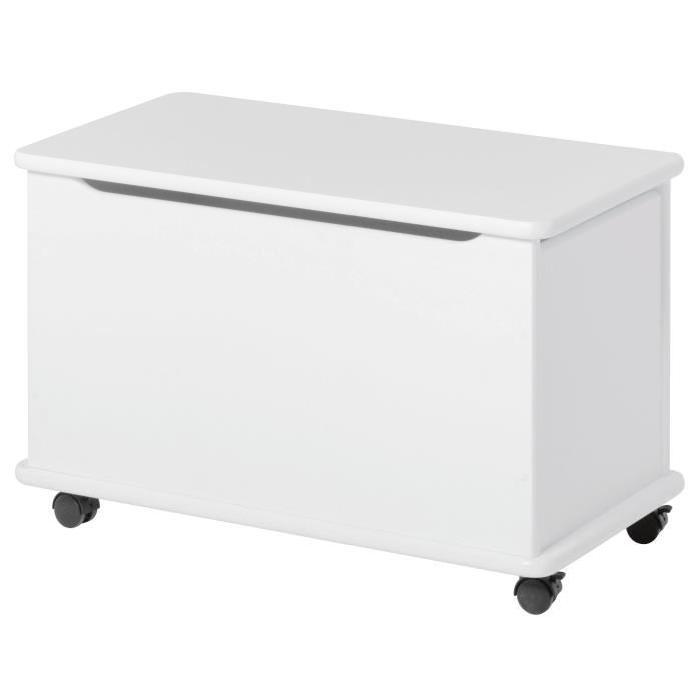 HOPPEKIDS Coffre de rangement contemporain laqué blanc - L 73 cm