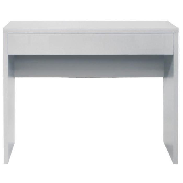 ARENA Console style contemporain blanc satiné - L 109 cm