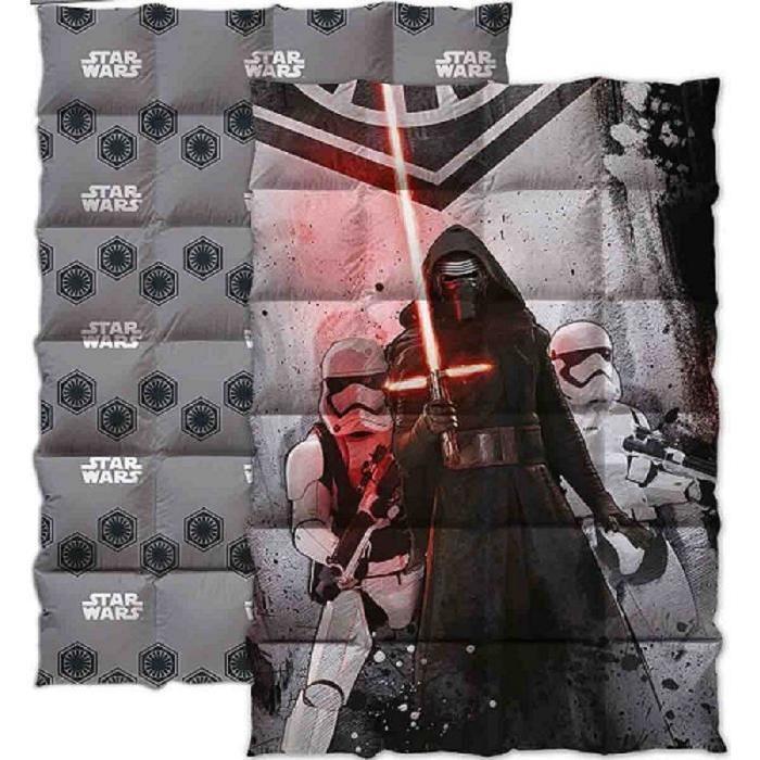 STAR WARS Couette imprimée 140x200 cm gris, rouge et noir