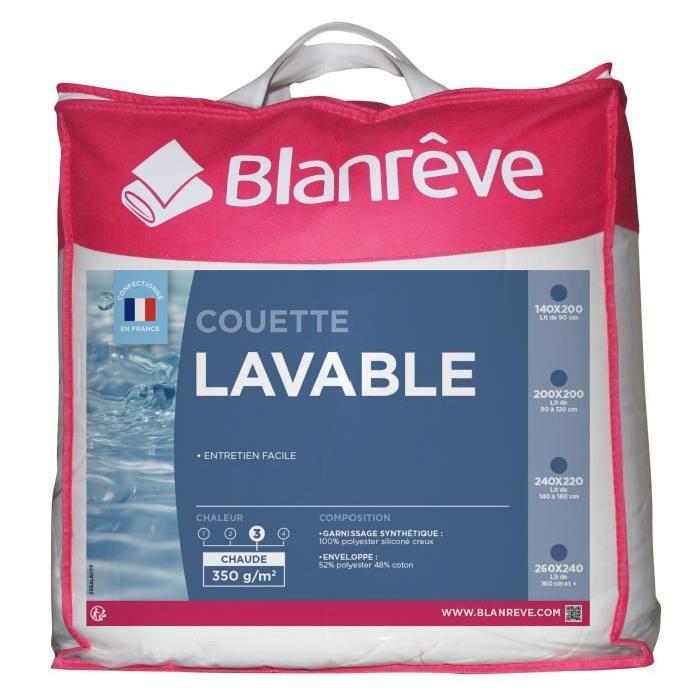 BLANREVE Couette tempérée Lavable 200x200 cm blanc