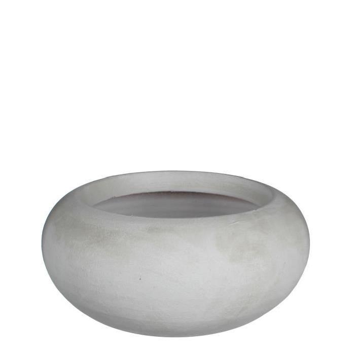 MICA Coupe Cache-pot ronde Vera - Blanc cassé