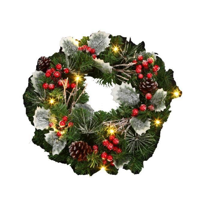 Couronne de Noël Lumineux 30x10 cm