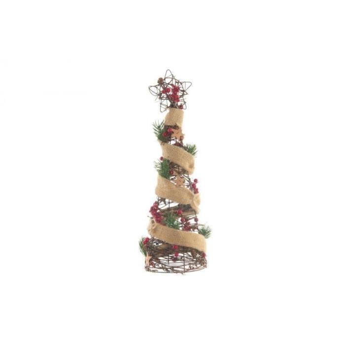 Couronne de Noël en métal 15x47x30 cm Rouge