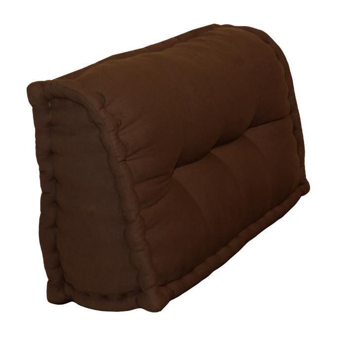 Dossier Cale-Reins 100% coton 60x22/11xH.35 cm chocolat