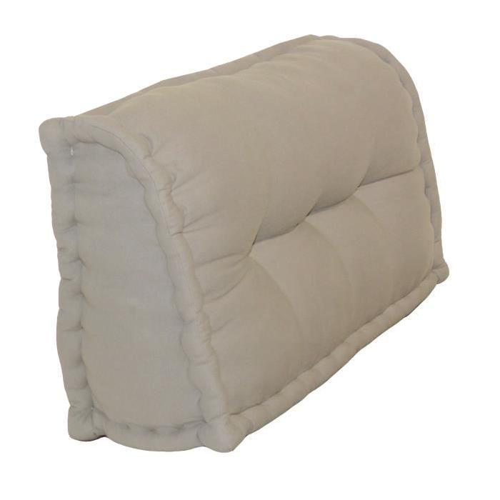 Dossier Cale-Reins 100% coton 60x22/11xH.35 cm lin