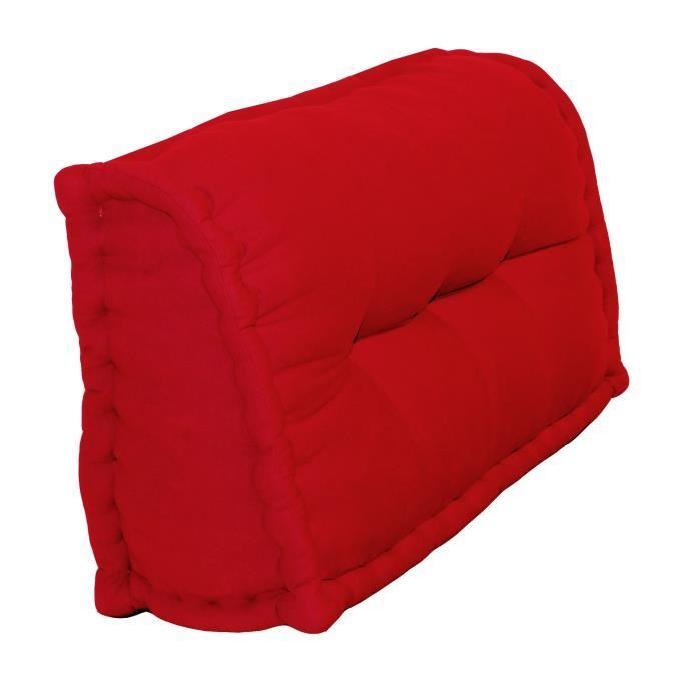 Dossier Cale-Reins 100% coton 60x22/11xH.35 cm rouge