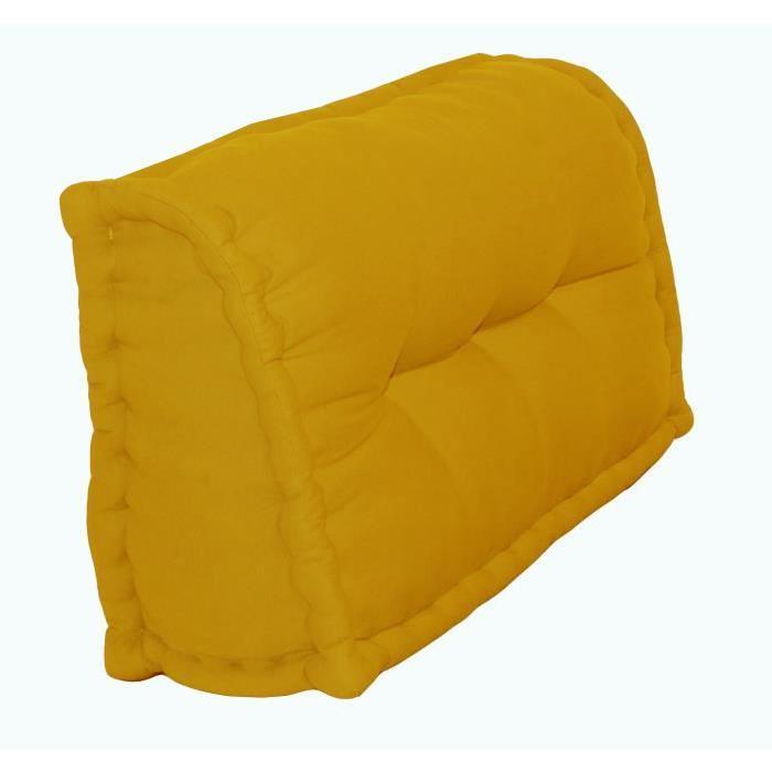 Dossier Cale-Reins 100% coton 60x22/11xH.35 cm moutarde