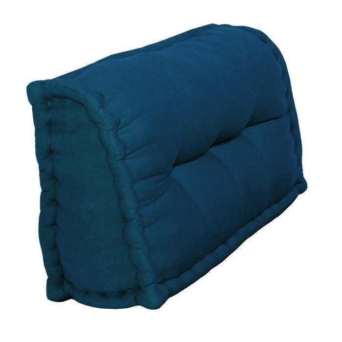 Dossier Cale-Reins 100% coton 60x22/11xH.35 cm bleu canard