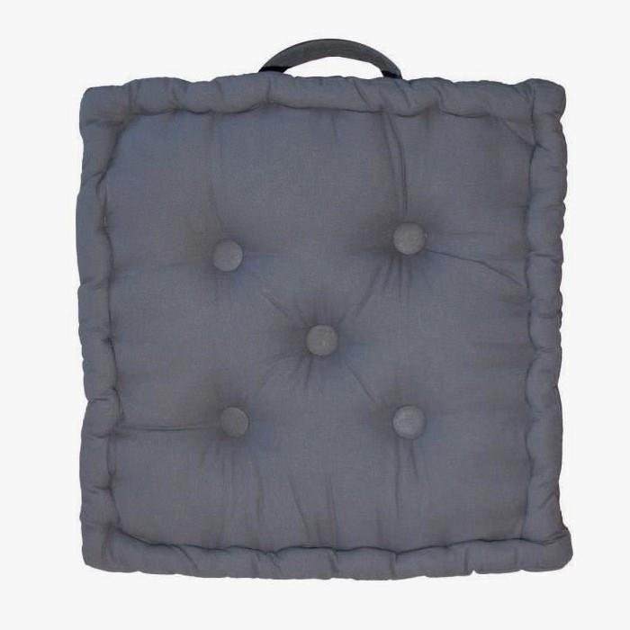 Coussin de sol Coton 40x40x9cm GRIS