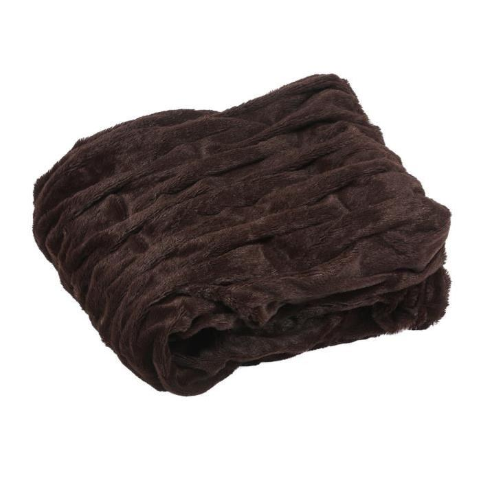 Plaid Saphir 130x150 cm marron