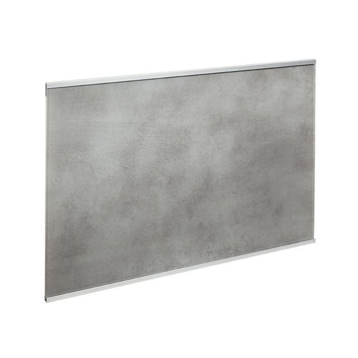 Crédence en verre de 5mm d'épaisseur style béton - Gris - 60x45cm