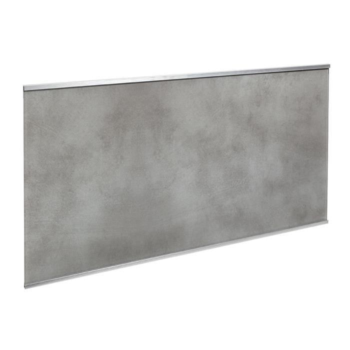 Crédence en verre de 5mm d'épaisseur style béton - Gris - 80x45cm