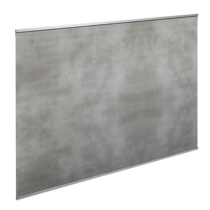 Fond de hotte en verre de 5mm d'épaisseur style béton - Gris - 60x70cm