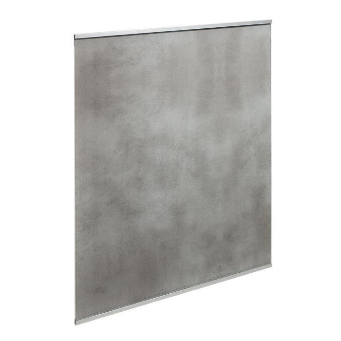 Fond de hotte en verre de 5mm d'épaisseur style béton - Gris - 90x70cm