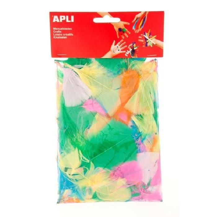 APLI Sachet de plumes - Type duvet - Couleurs assorties - 14 g