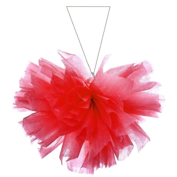 SANTEX Boule intissée uni  25 cm rouge