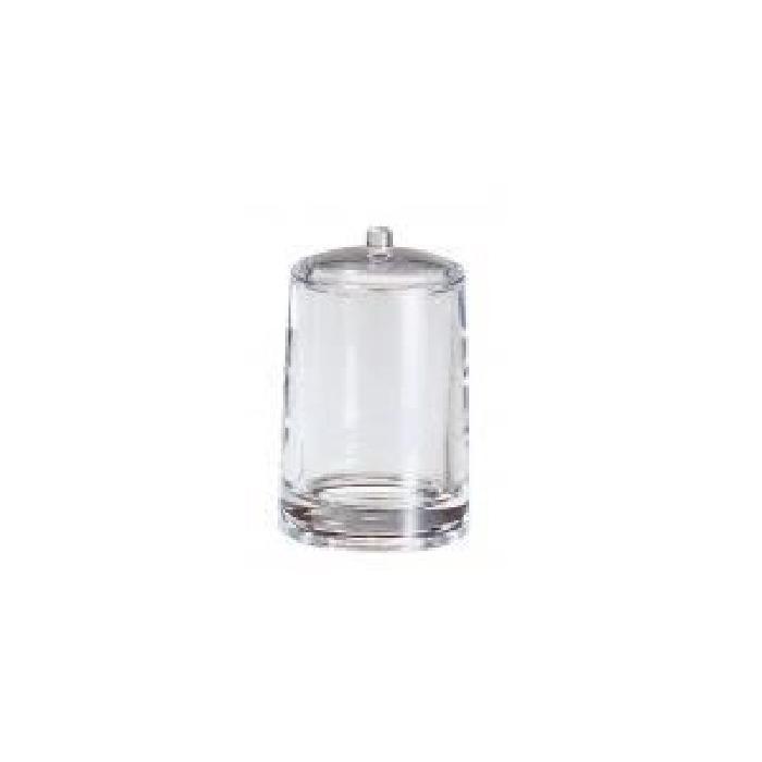 GERSON Porte coton-tiges - Ř 7,5 H11,5 cm - Transparent