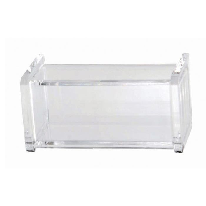 GERSON Porte coton-tiges a couvercle - 10x5x5 cm - Transparent