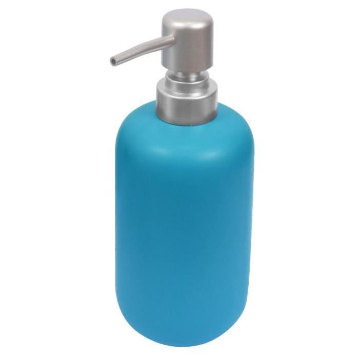 Flacon pompe - Céramique - Bleu mat