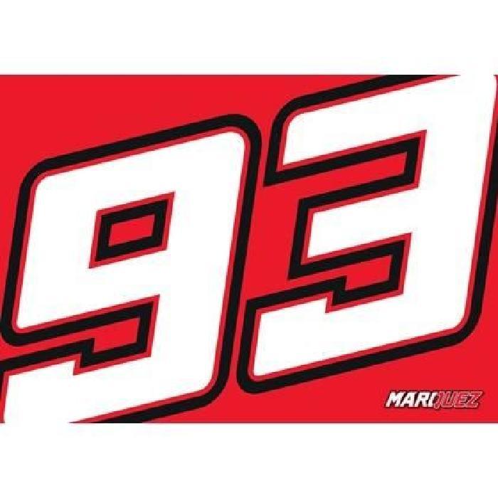 Drapeau MM93 - Rouge - Marc Marquez