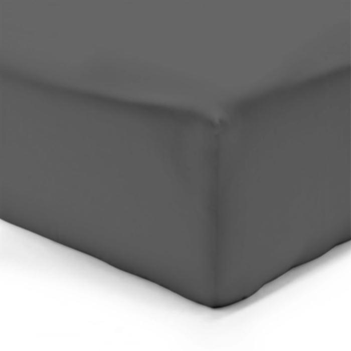 VISION Drap Housse 100% coton 180x200 cm anthracite