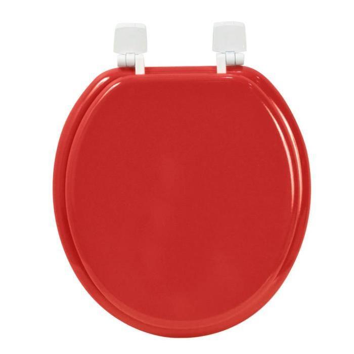 FRANDIS Abattant WC Eco en bois rouge
