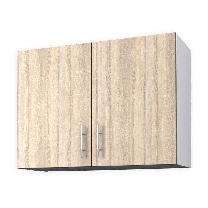 OBI Meuble haut de cuisine L 80 cm - Décor chene clair