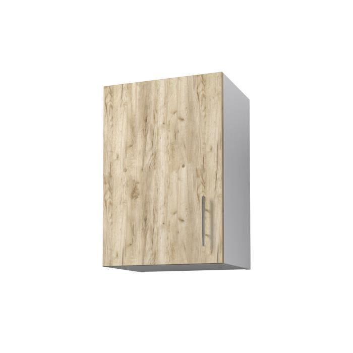 OBI Meuble haut de cuisine L 40 cm - Décor chene doré et blanc