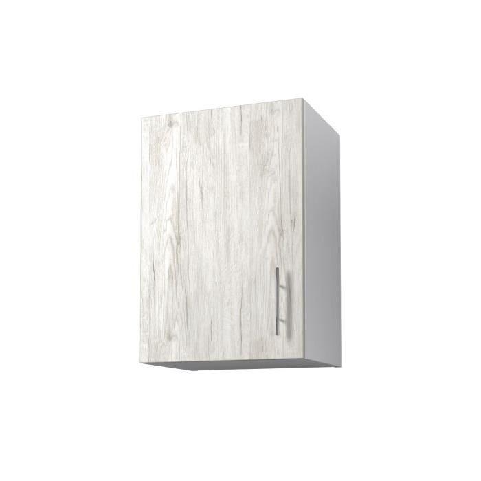 OBI Meuble haut de cuisine L 40 cm - Décor chene Sanremo et blanc
