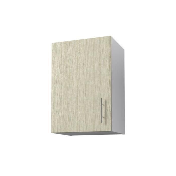 OBI Meuble haut de cuisine L 40 cm - Décor chene Monumental et blanc